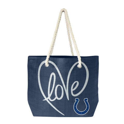 Indianapolis Colts Rope Tote (Navy Slvr)