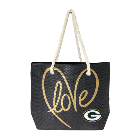 Green Bay Packers Rope Tote (Black Gold)