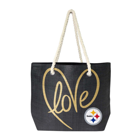 Pittsburgh Steelers Rope Tote (Black Gold)