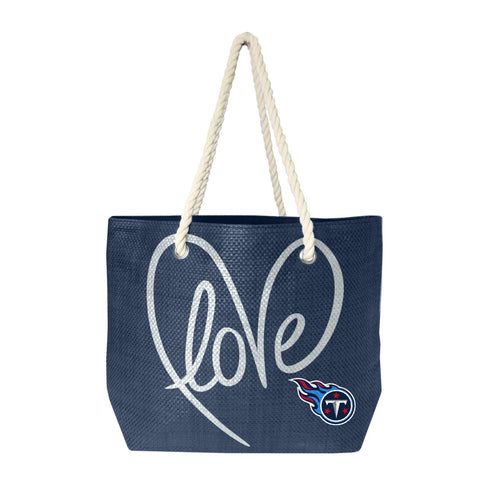 Tennessee Titans Rope Tote (Navy Slvr)