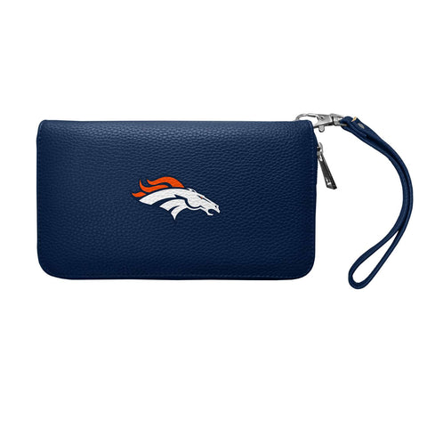 Denver Broncos Zip Organizer Wallet Pebble (Navy)