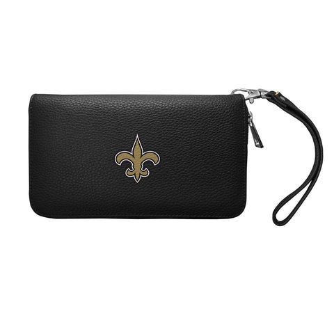 New Orleans Saints Zip Organizer Wallet Pebble (Black)