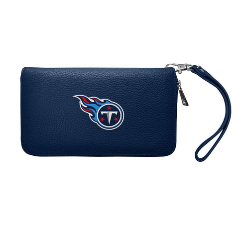 Tennessee Titans Zip Organizer Wallet Pebble (Navy)