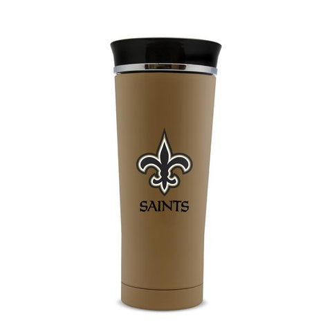 NEW ORLEANS SAINTS STAINLESS STEEL LEAK PROOF FREE FLOW THERMO MUG 18 OZ.