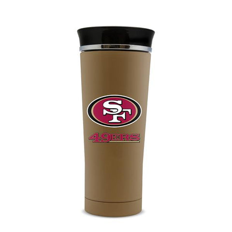 SAN FRANCISCO 49ERS STAINLESS STEEL LEAK PROOF FREE FLOW THERMO MUG 18 OZ.