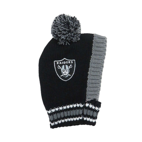 Oakland Raiders Team Pet Knit Hat (Large)