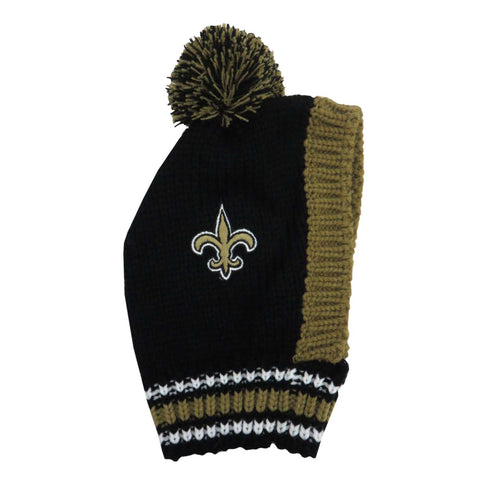 New Orleans Saints Team Pet Knit Hat (Medium)