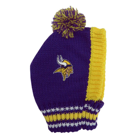 Minnesota Vikings Team Pet Knit Hat (Large)
