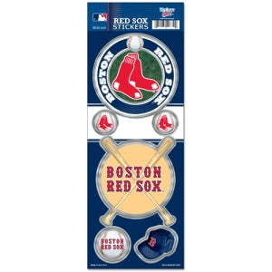 Boston Red Sox Decal 4x11 Die Cut Prismatic Style