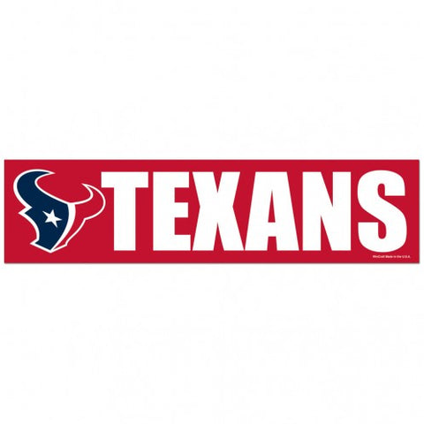 Houston Texans Decal Bumper Sticker