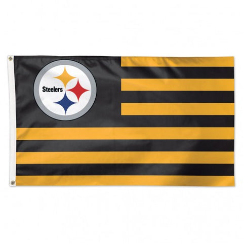Pittsburgh Steelers Flag 3x5 Deluxe Americana Design