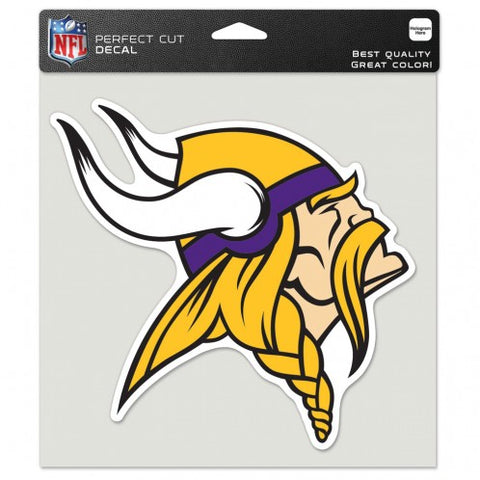 Minnesota Vikings Decal 8x8 Die Cut Color