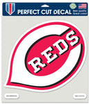 Cincinnati Reds Decal 8x8 Die Cut Color