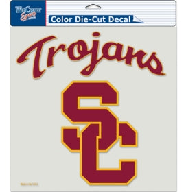 USC Trojans Decal 8x8 Die Cut Color
