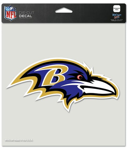 Baltimore Ravens Decal 8x8 Die Cut Color