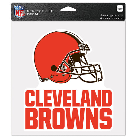 Cleveland Browns Decal 8x8 Die Cut Color