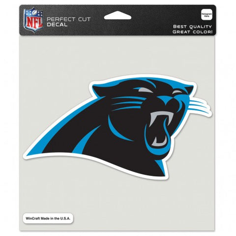 Carolina Panthers Decal 8x8 Die Cut Color