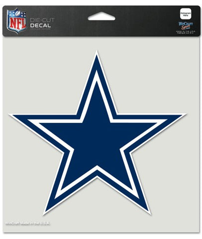 Dallas Cowboys Decal 8x8 Die Cut Color