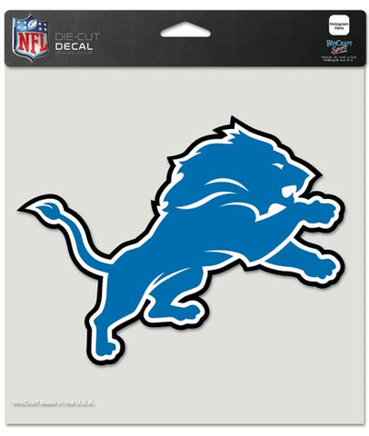 Detroit Lions Decal 8x8 Die Cut Color