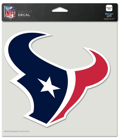 Houston Texans Decal 8x8 Die Cut Color