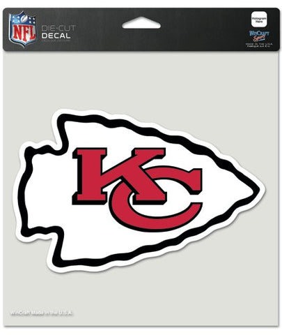 Kansas City Chiefs Decal 8x8 Die Cut Color