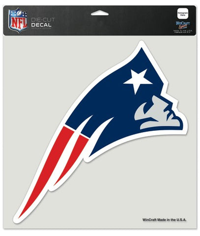 New England Patriots Decal 8x8 Die Cut Color