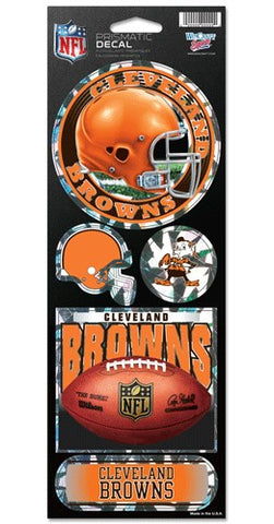 Cleveland Browns Stickers Prismatic