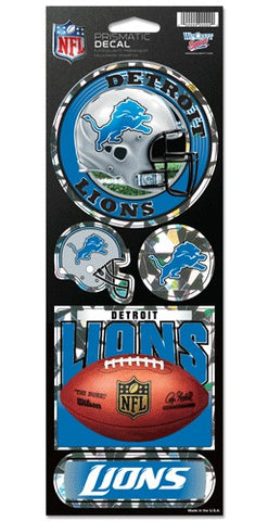 Detroit Lions Stickers Prismatic