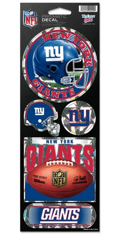 New York Giants Stickers Prismatic