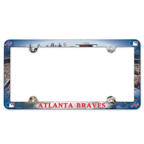 Atlanta Braves License Plate Frame - Full Color