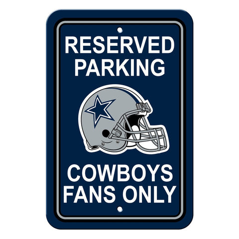 NFL Dallas Cowboys Reserved Parking Sign
