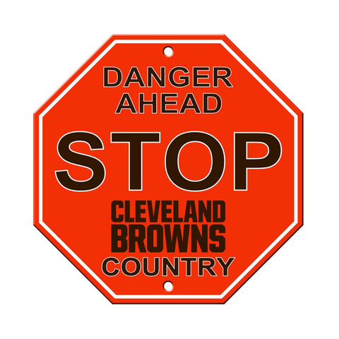 NFL Cleveland Browns Stop Sign