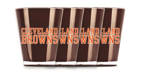 CLEVELAND BROWNS INSULATED SHOT GLASS - 4PC/SET