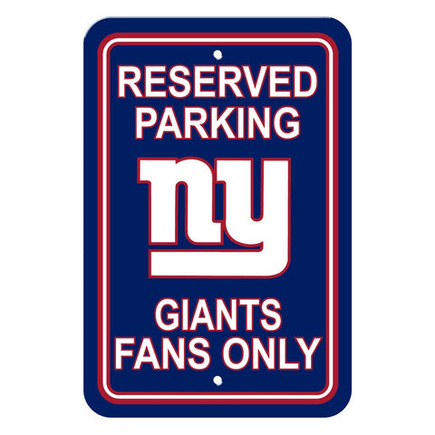 NFL New York Giants Reserved Parking Sign