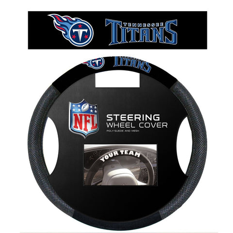 NFL Tennessee Titans Poly-Suede Steering Wheel Cover
