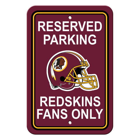 NFL Washington Redskins Reserved Parking Sign