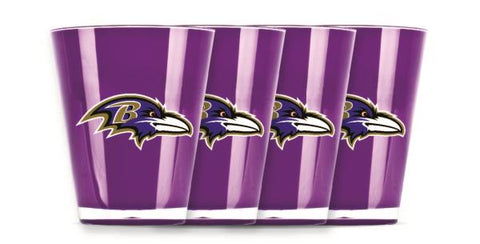 BALTIMORE RAVENS INSULATED SHOT GLASS - 4PC/SET