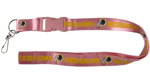 Washington Redskins Lanyard - Breakaway with Key Ring - Pink