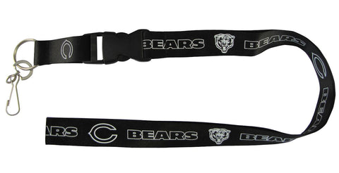 Chicago Bears Lanyard - Breakaway with Key Ring - Blackout