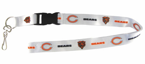 Chicago Bears Lanyard - Breakaway with Key Ring - Retro Style