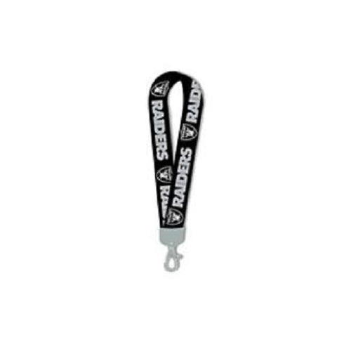 Oakland Raiders Lanyard  Wristlet Black