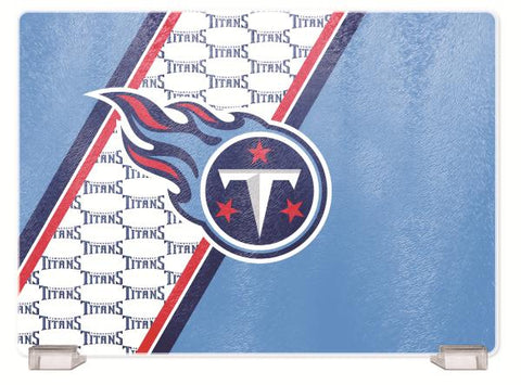 TENNESSEE TITANS TEMPERED GLASS CUTTING BOARD