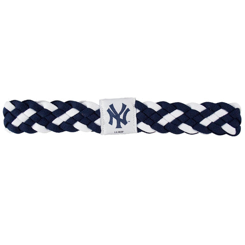 New York Yankees Braided Head Band 6 Braid