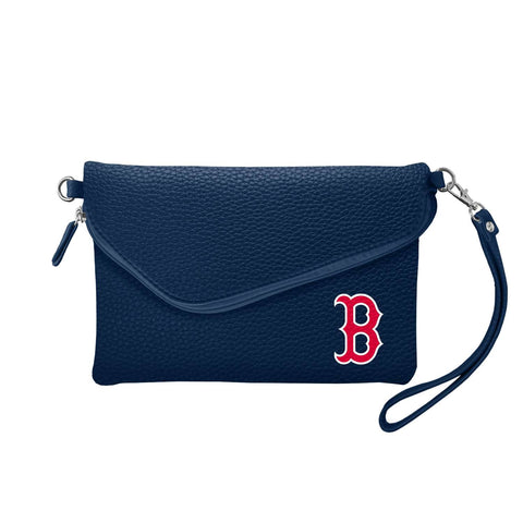 Boston Red Sox Fold Over Crossbody Pebble (Navy)