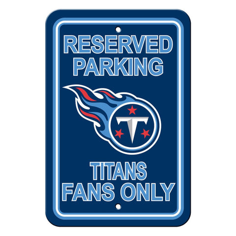 NFL Tennessee Titans Reserved Parking Sign
