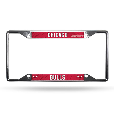 Chicago Bulls License Plate Frame Chrome EZ View