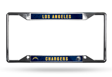 Los Angeles Chargers License Plate Frame Chrome EZ View