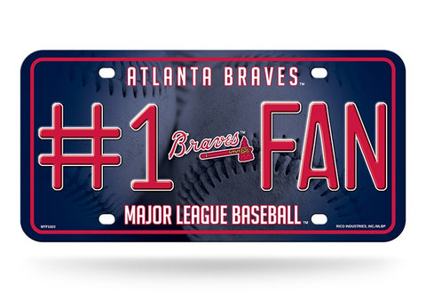 Atlanta Braves License Plate #1 Fan