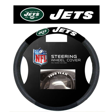 NFL New York Jets Poly-Suede Steering Wheel Cover