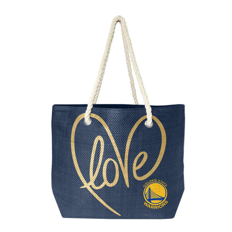 Golden State Warriors Rope Tote (Navy Gold)